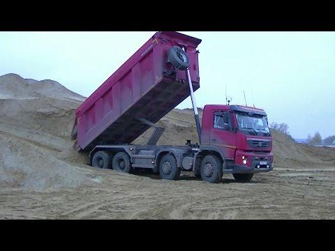 Volvo FMX 8x4 Meiller Kipper unloading