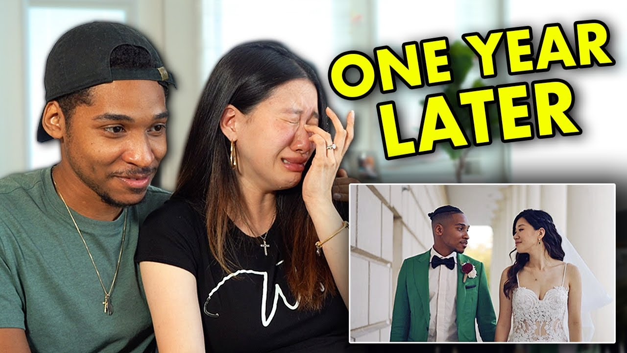 Reacting to Our Wedding Video 1 Year Later