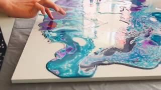 Жидкий акрил, арт-терапия в художественной студии Kadariya art