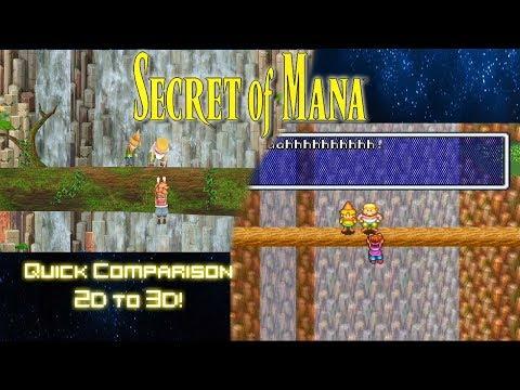 Secret of Mana Quick Comparison 3D Remake Vs Original Super Nintendo PAX West 2017 Footage