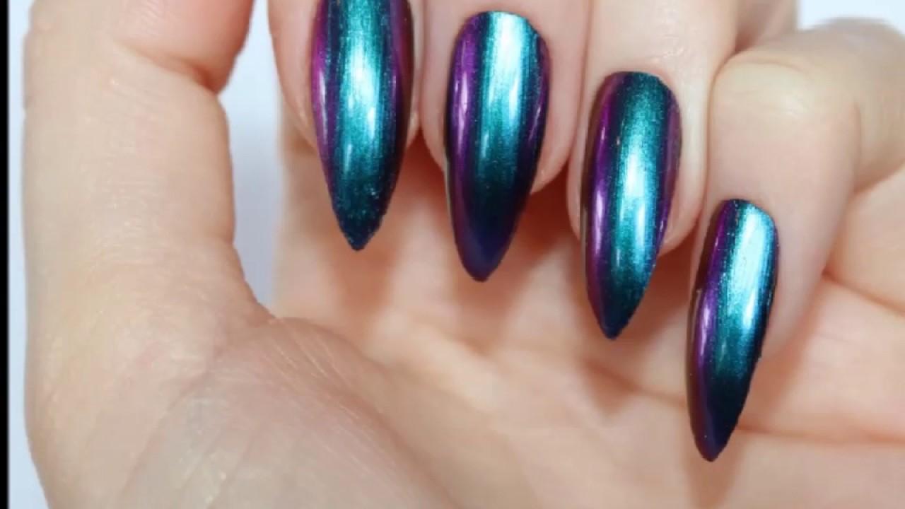 SkyMoon Ladies Salon & Spa, Dubai - Chrome Nails - YouTube