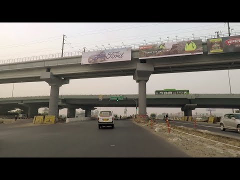 Driving in Delhi NH24 (Mayur Vihar to Sundar Nagar) - India