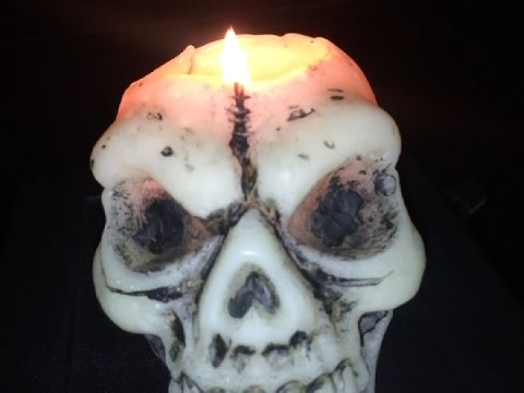 Making a Skull Candle