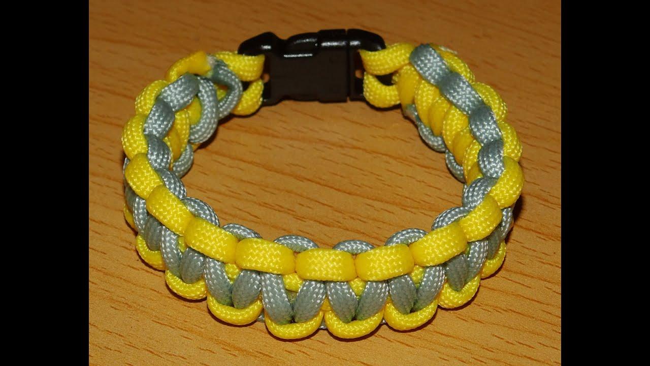 Relativ Anleitung zweifarbiges Paracord Armband *D* - YouTube QR14