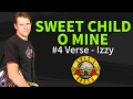 How to play Sweet Child O' Mine Guitar Lesson #4 Verse - Izzy -  Guns N' Roses