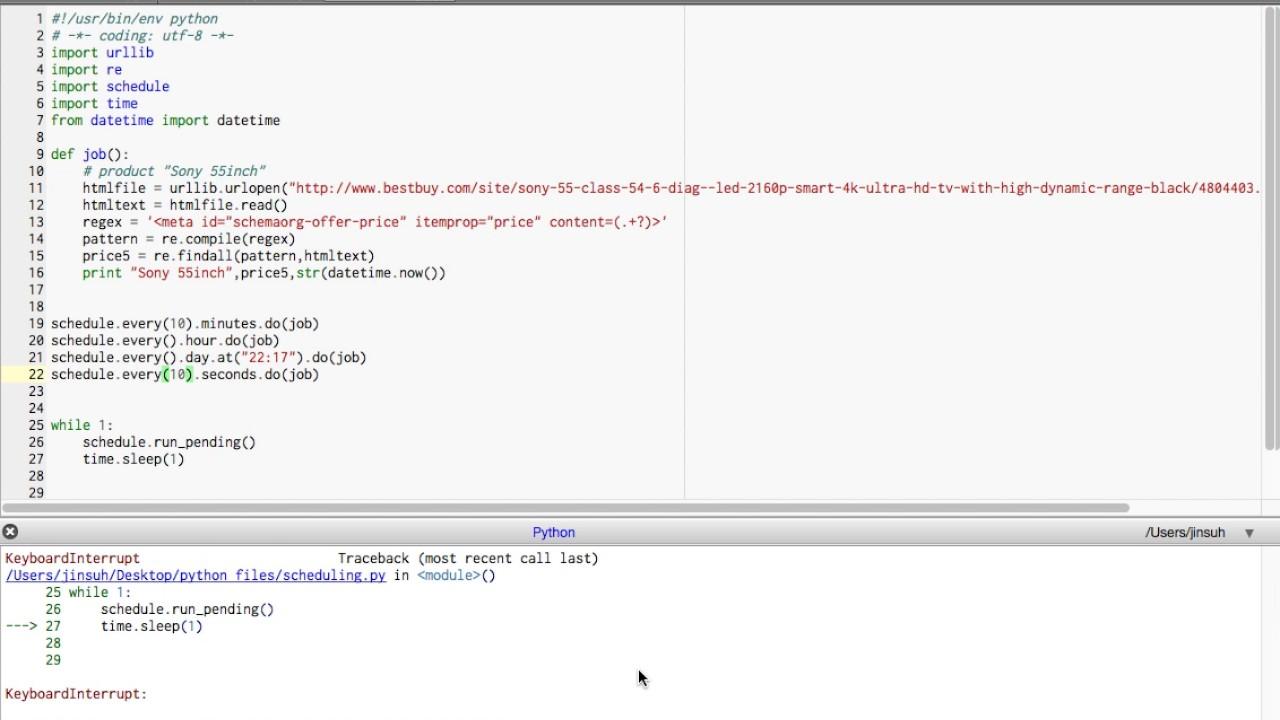 Python scheduling