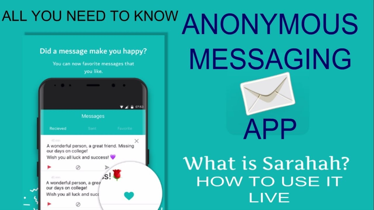 Sarahah App: What is it , and Why Is Everyone Talking About It  ?🙄🙄👽👽