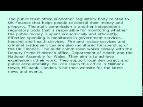 UK Finance and Auditing Regulatory bodies