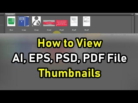 How To View Adobe Illustrator AI, EPS, Photoshop PSD, PDF File Thumbnails