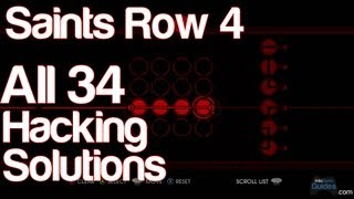 Saints Row 4 - All 34 Hacking Solutions Puzzle Answers How to Hack | WikiGameGuides