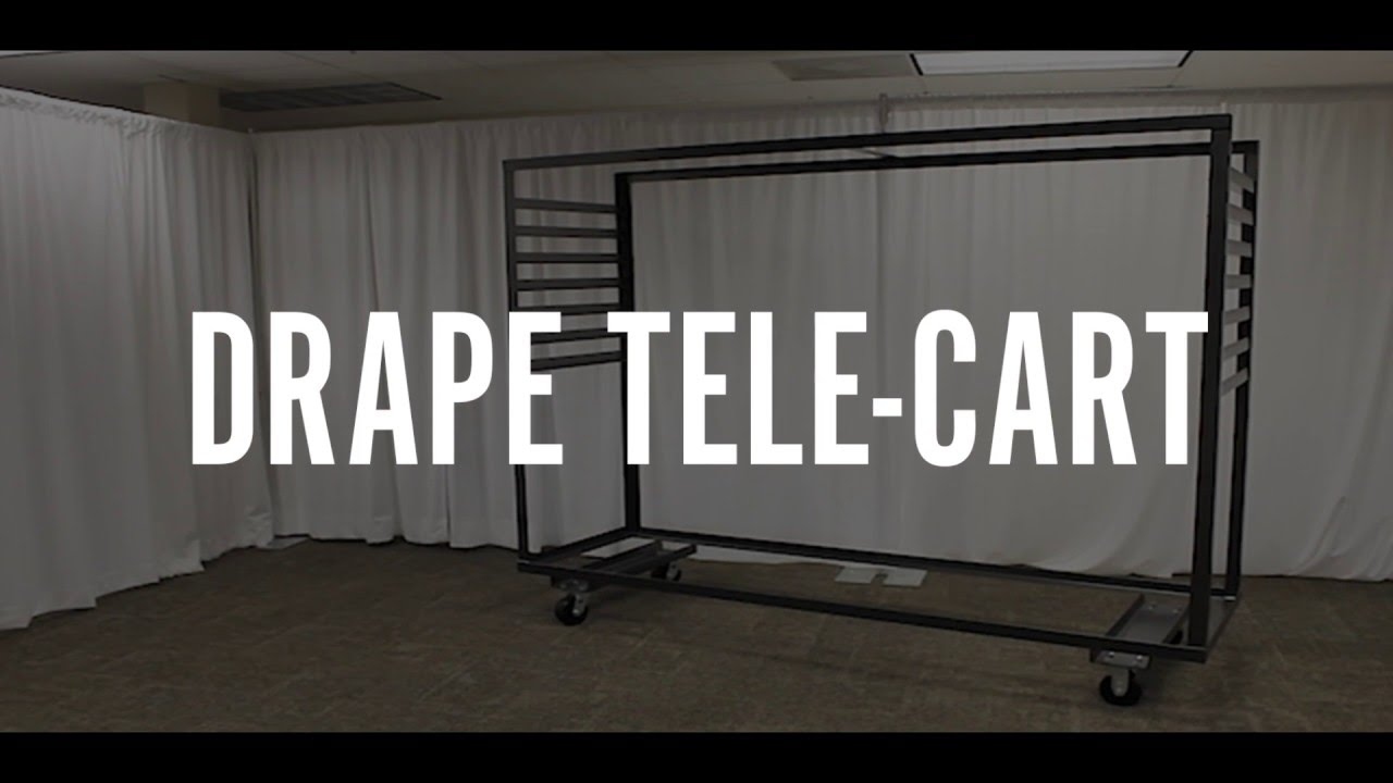 Drape Tele Cart - Pipe and Drape Storage Carts - YouTube