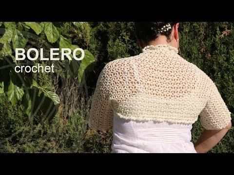 tutorial bolero f225cil crochet o ganchillo en espa241ol youtube