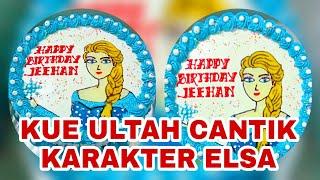 Download CARA MEMBUAT KUE TART KARAKTER ELSA FROZEN || CANTIK DAN MENARIK