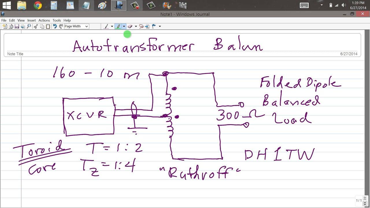 Autotransformer Broadband Balun