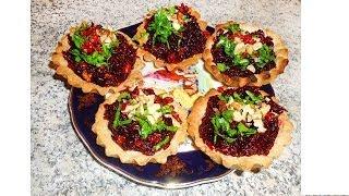 Свекольный салат в тарталетках