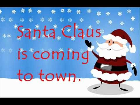 Santa Claus is Coming to Town with lyrics