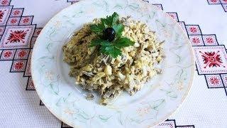Салат из сердца рецепт приготовления Салат з серця рецепт Салаты на скорую руку рецепти салатів