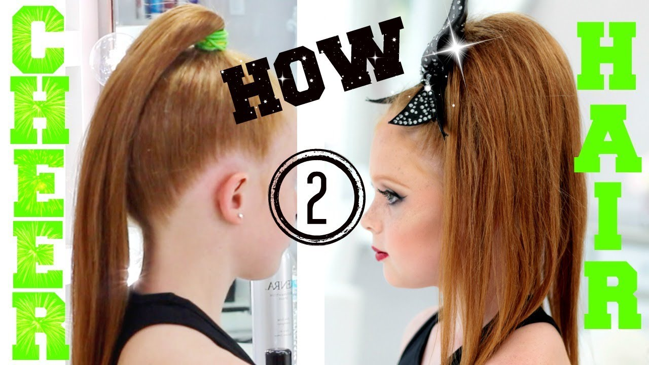 how to cheer hair | allstar cheerleading tutorial