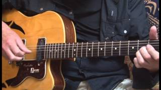 Burns GB65 - Electro Acoustic - demonstrated by Paul Brett