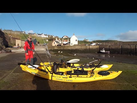 Kayak Sea Fishing at St Abbs UK -  2015