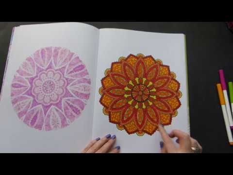 My first completed coloring book!/Giant Mandalas by Jane Snedden Peever