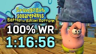 SpongeBob SquarePants: Battle for Bikini Bottom 100% Speedrun in 1:16:56 (WR on 8/6/2020)