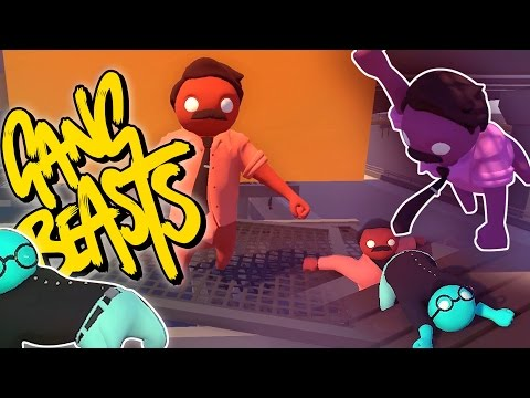 Beating Up My Friends Gang Beasts Funny Moments Doovi