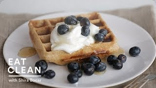 Whole Grain Waffles With Blueberries And Yogurt - Eat Clean With Shira Bocar