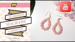 Macrame for beginners | Easy teardrop macrame earrings | DIY macrame jewelry & crafts