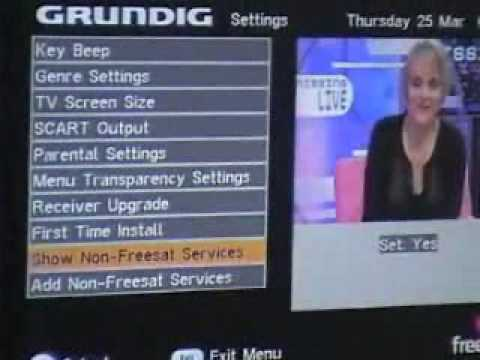 How to add extra channels onto a Freesat receiver