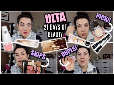"""FULL FACE of Ulta's """"21 Days of Beauty"""" - Picks, Skips & Dupes!"""