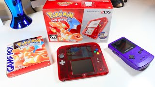 Unboxing Nintendo 2DS Pokemon Red Version 20th Anniversary