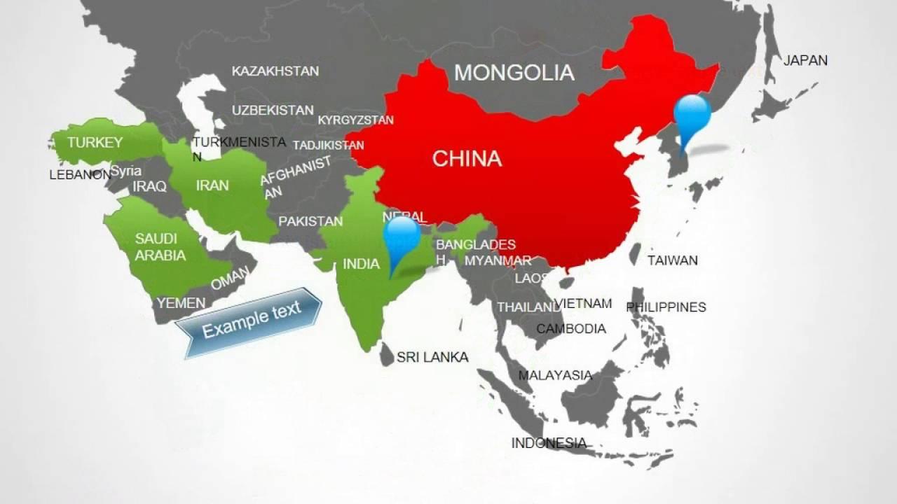 asia maps asia powerpoint maps presentation youtube