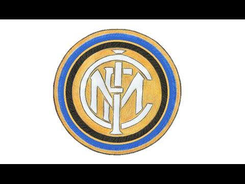 Wie Zeichnet Man Logo Von Inter Mailand Fc Internazionale Milano Italienischen Fussball Tutorial