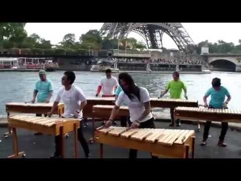 Kolintang Kawanua Jakarta (K2J) - Concerto (take from Eiffel Tower, Paris)