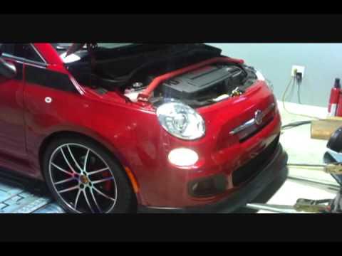 Fiat 500 Dyno test after ecu remap - YouTube