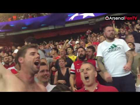 Arsenal Fans Inside The Parc des Princes!