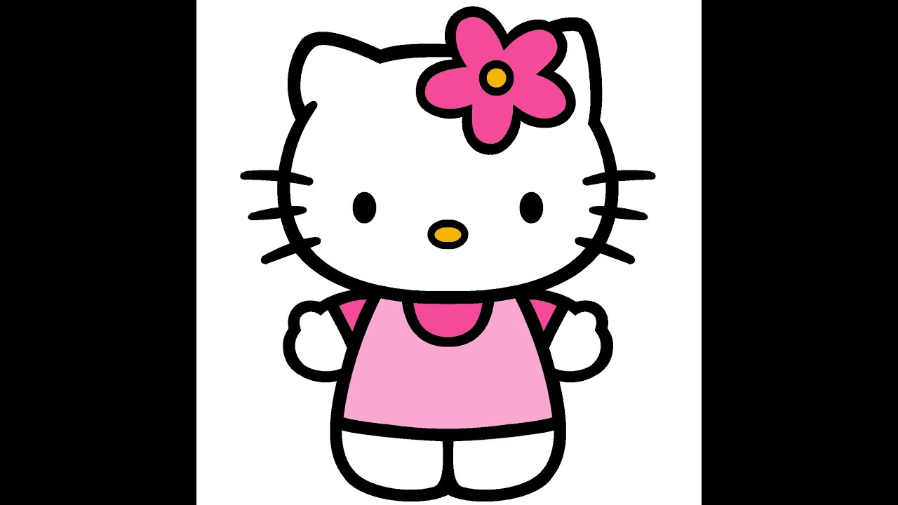 how to draw hello kitty tutorial