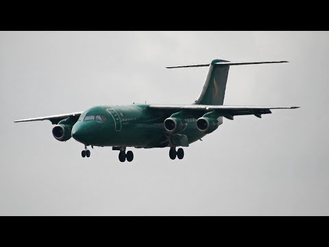 Aviro Air British Aerospace BAe 146-300 Landing At Belgrade Airport