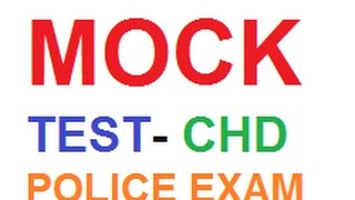 ONLINE MOCK TEST FOR CHANDIGARH POLICE EXAM IN HINDI