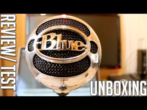 Blue Snow Ball - USB Microphone (Brushed Aluminum) - Unboxing/ Test