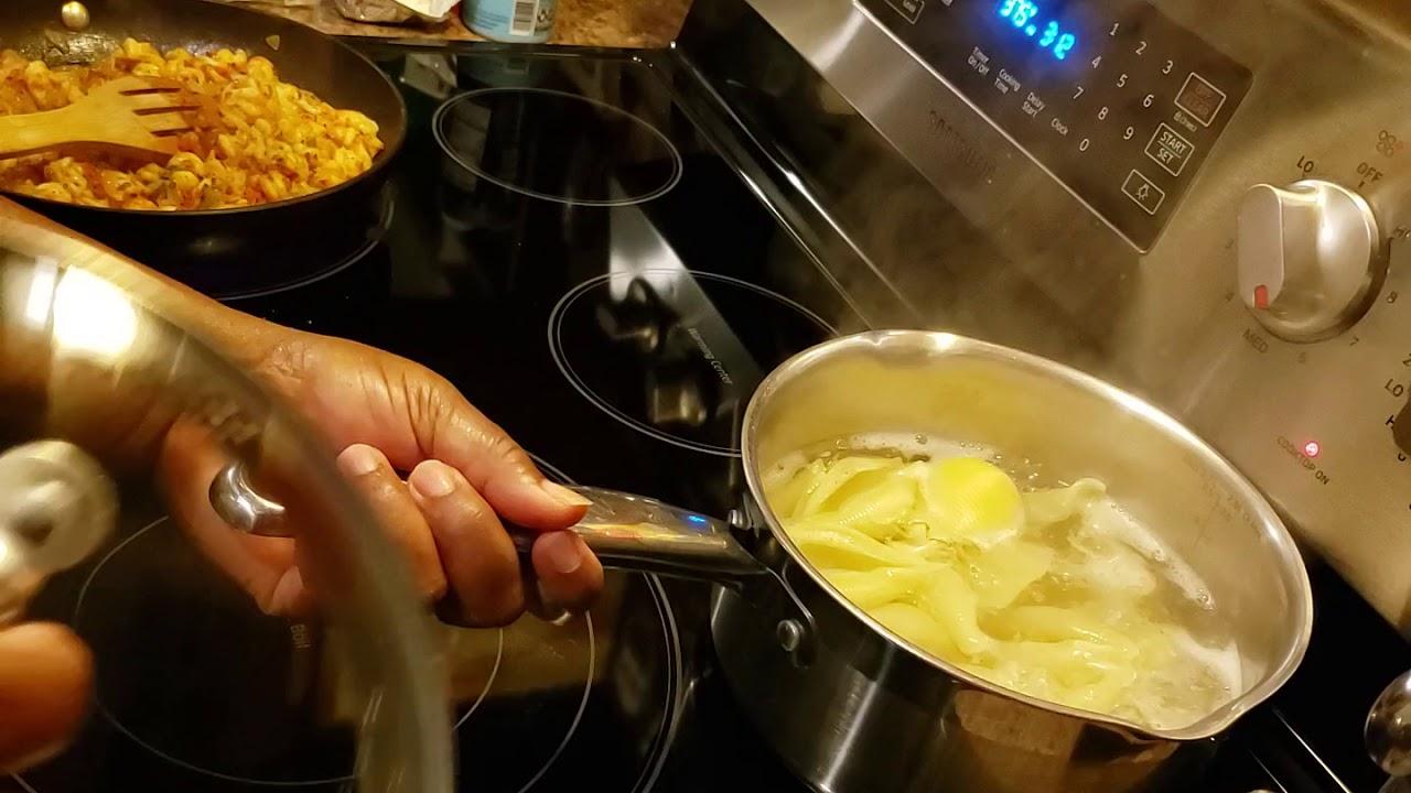 My seafood stuffed shells with parmesan ...