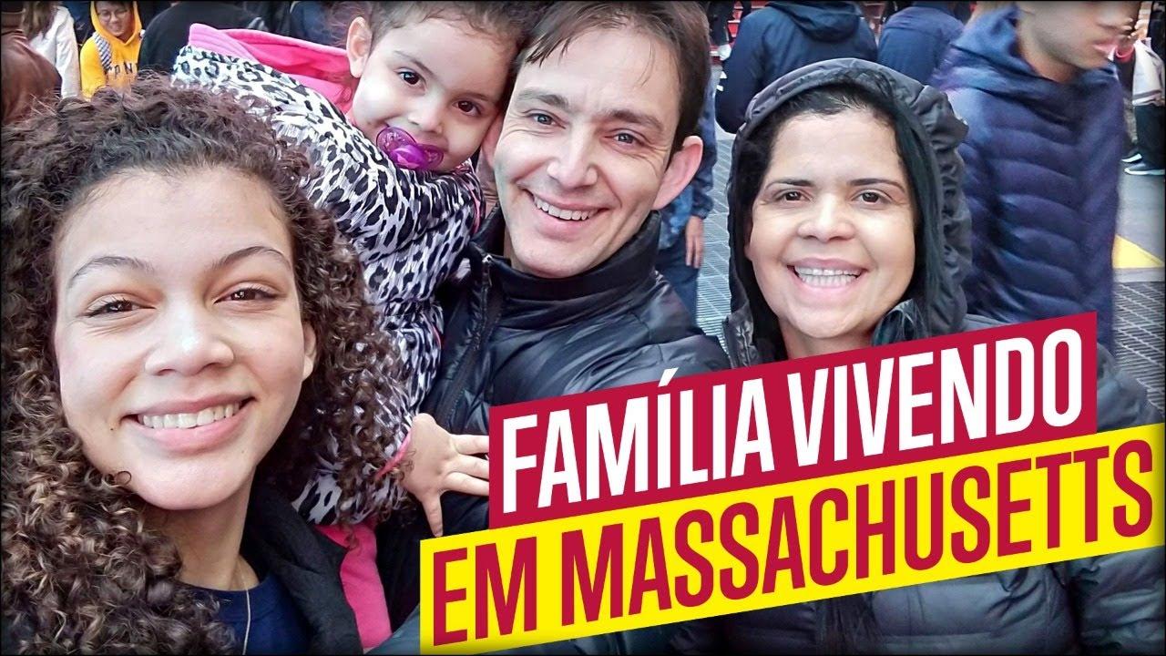 Como é morar com a família em Leominster, Massachusetts, EUA