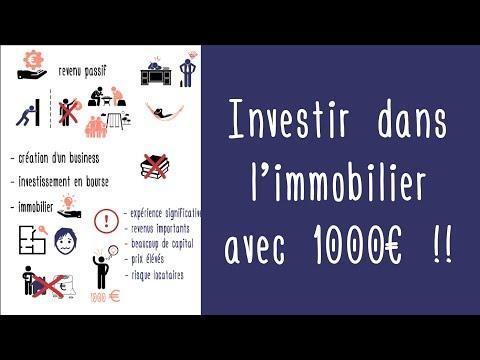 Investir dans l'immobilier sans capital ni crédit en banque : possible avec seulement 1 000 € !!