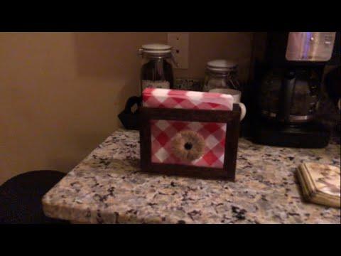 Farmhouse Napkin Holder DIY    Dollar Tree DIY    Part 1