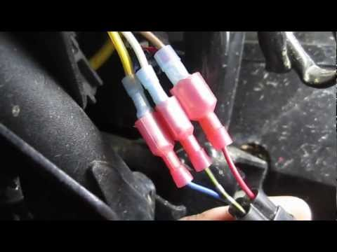 How to Wire a Secondary ATV Tail Light \ Brake Light - 08 Brute Force - Wes  Industries Seat - YouTube