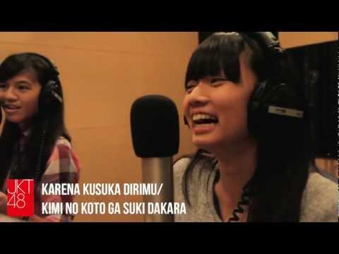 JKT48 recording session: Karena Kusuka Dirimu/Kimi No Koto Ga Suki Dakara
