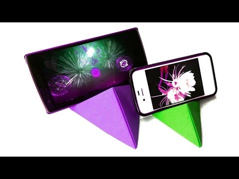 How to make Origami Phone Stand - Paper Phone Stand Tutorial Without Glue