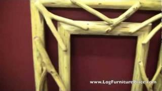 Red Cedar Twig Mirror Frame From Logfurnitureplace.com