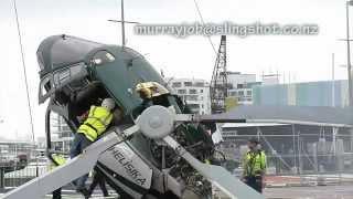 حادث تحطم طائرة هليكوبتر بسبب حبل
